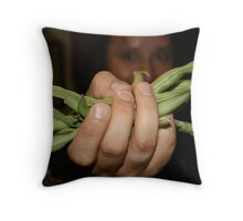 Beans! Throw Pillow