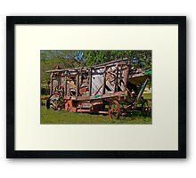 Old Farming Equipment. Framed Print