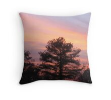 Peachy Sunset Throw Pillow