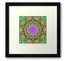 Green Lace Kaleidoscope 123 Framed Print
