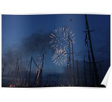Fireworks at Tall Ships Poster