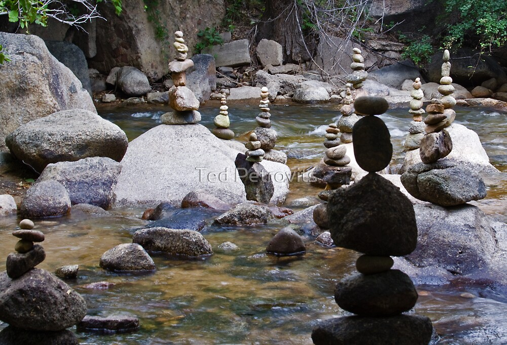stacked stones by Ted Petrovits