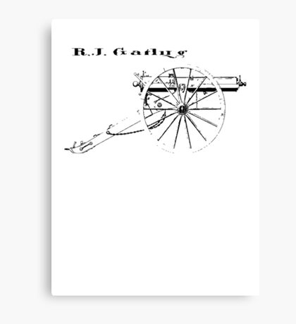 Gatling Gun Canvas Print