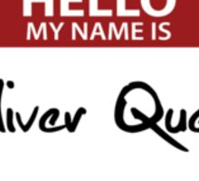 """Nametag Parody: """"My Name is Oliver Queen"""" Sticker"""