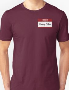 """Nametag Parody: """"My Name is Barry Allen"""" T-Shirt"""