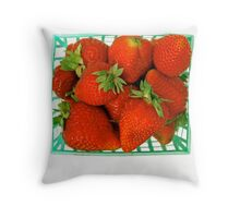 Care for a strawberry? Throw Pillow