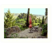 Languedoc Hillside patio Art Print