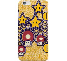 Mushrooms and stars iPhone Case/Skin