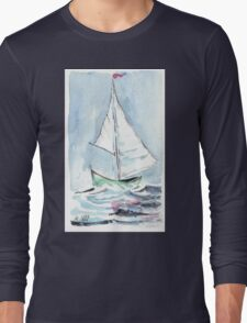 Nautical theme - Sail away from the safe harbour Long Sleeve T-Shirt
