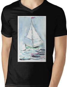Nautical theme - Sail away from the safe harbour Mens V-Neck T-Shirt