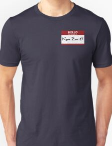 "Nametag Parody: ""My Name is Kara Zor-El"" T-Shirt"