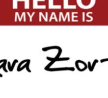 "Nametag Parody: ""My Name is Kara Zor-El"" Sticker"