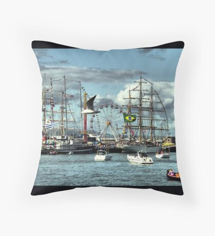 Tall Ships (3) Throw Pillow
