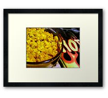 Rattle those pots and pans Framed Print
