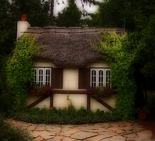Cottage in the English Gardens by Vickie Emms