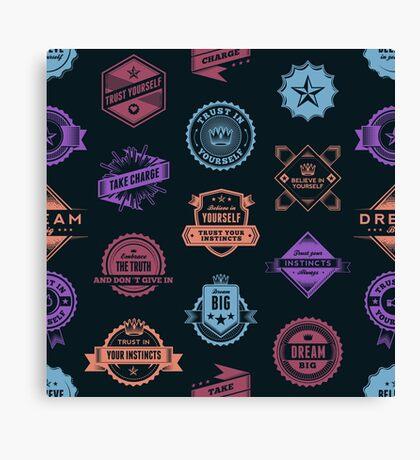 Inspirational Badges Canvas Print