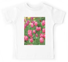 Early Spring Colorful Tulips photograph  Kids Tee