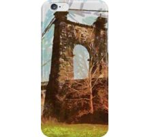 Wheeling Suspension Bridge, Spanning East channel of Ohio River  iPhone Case/Skin