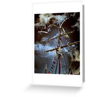 Tall Ships & silver birds (2) Greeting Card