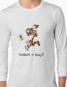 Dovahkiin and Khajiit We Know Long Sleeve T-Shirt
