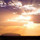Uluru Sunrise with Atmospheric Details by Steven Pearce