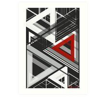 geometric abstract no.4 Art Print