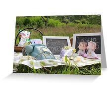 picnik bride Greeting Card
