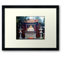 Buddha At The Gate Framed Print