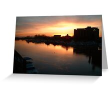 Fraser River Sunset Greeting Card