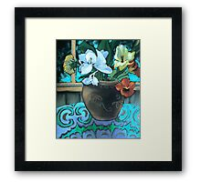 blue ginger flowers Framed Print