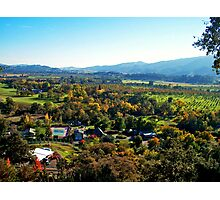 Vacaville California's Countryside View Photographic Print