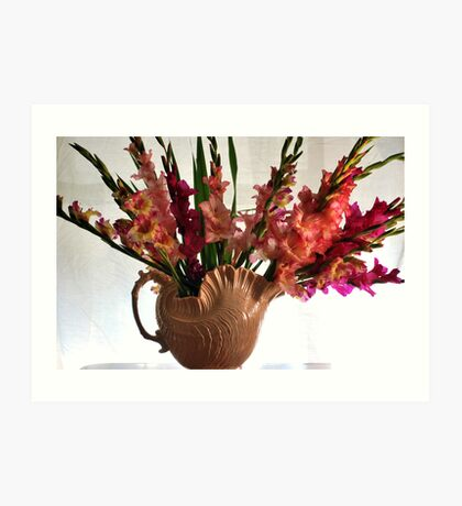 Glads in a vase  Art Print