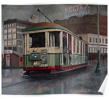 Sydney O-class Tram at Railway Square Poster