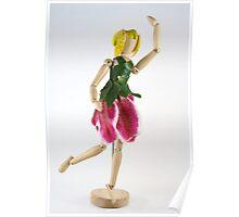 Dancing wooden Fairy Poster