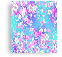 Violete Elite Floral Canvas Print