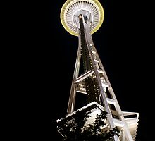 Space Needle at Night by alexmorrison12