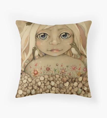 Nature's Child Throw Pillow