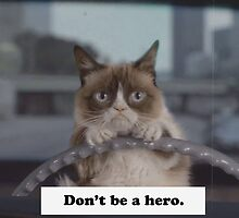 Don't Be a Hero Cat by Charlottesw3b