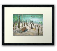 hermit of simpsons lake Framed Print
