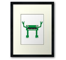 square robot monster Framed Print