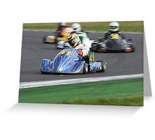 Fast Kart Greeting Card