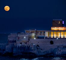 Full Moon over Dragonara Casino by Jakov Cordina