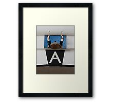 The Conductor in a Tux. Framed Print