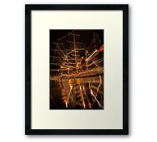 Sarges Strobe Lighting Framed Print