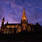 Cathedral under Purple Skies by Joel Bramley