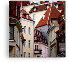 Hometown roofs Canvas Print