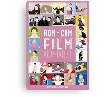 Rom Com Film Alphabet Canvas Print