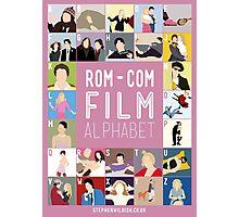 Rom Com Film Alphabet Photographic Print