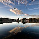 Lake reflections - Daylesford by Victor Pugatschew