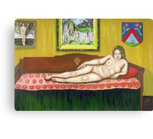 Gok with Munch and Cezanne Canvas Print